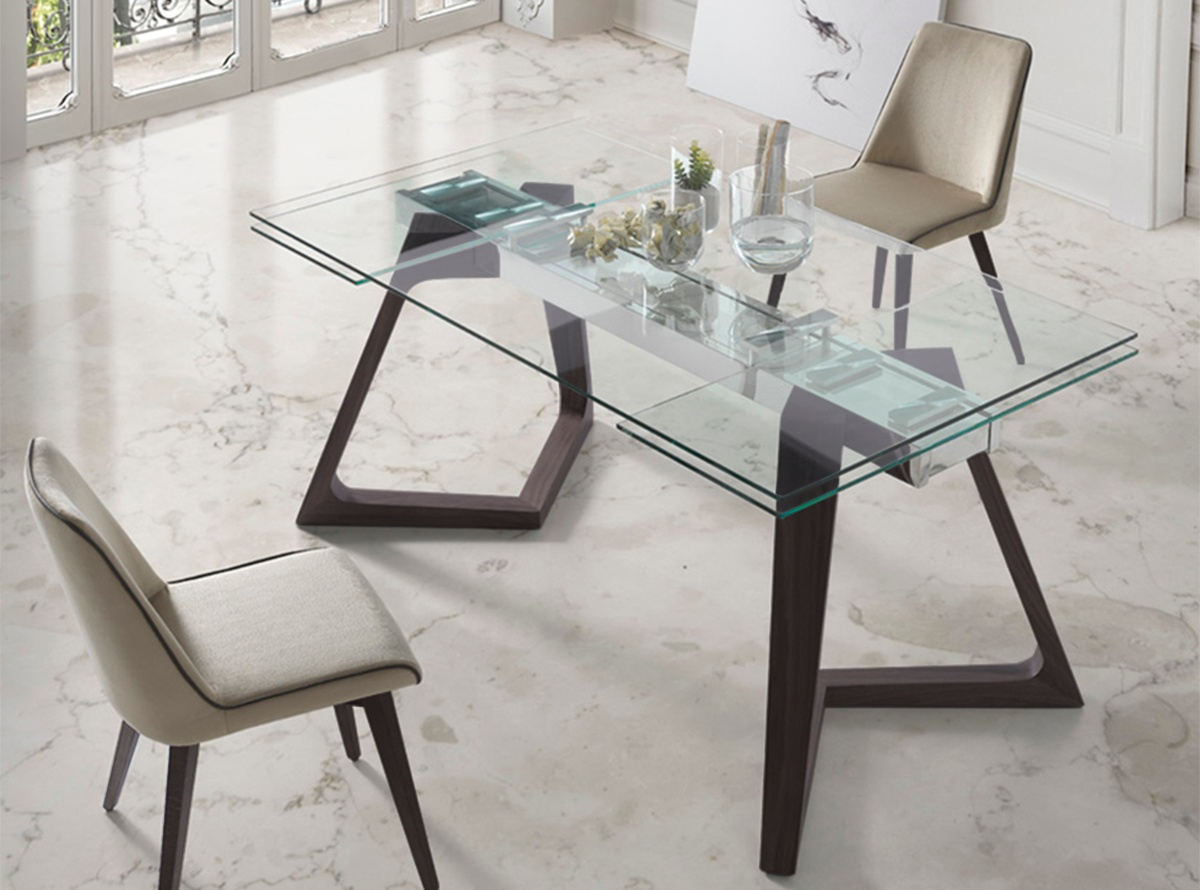 Mesa comedor tuio muebles de salon hipermueble for Mesa de comedor cristal y madera