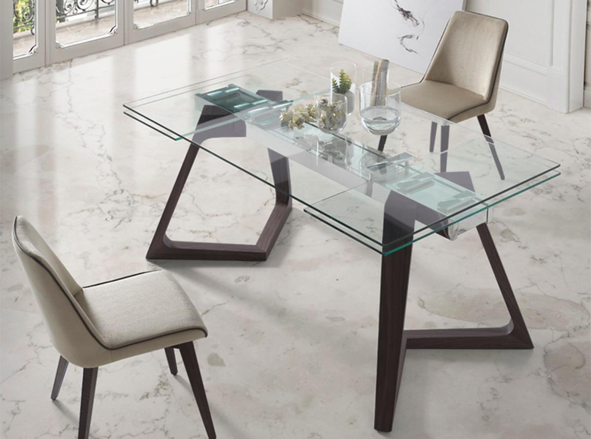 Mesa comedor tuio muebles de salon hipermueble for Mesa comedor madera cristal