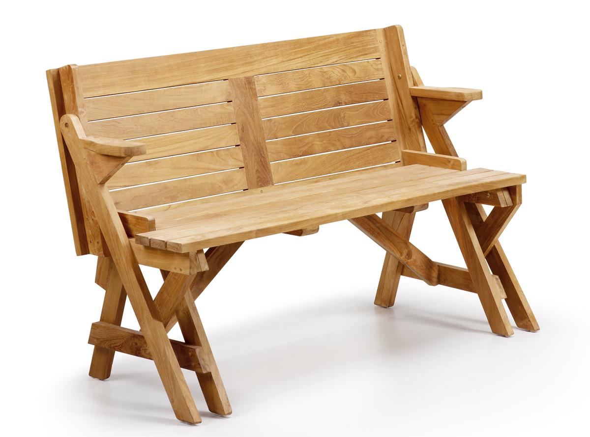 Muebles auxiliares muebles de jardin hipermueble for Mesa banco madera jardin