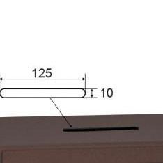 Caja fuerte para sobreponer 1 balda (llave)