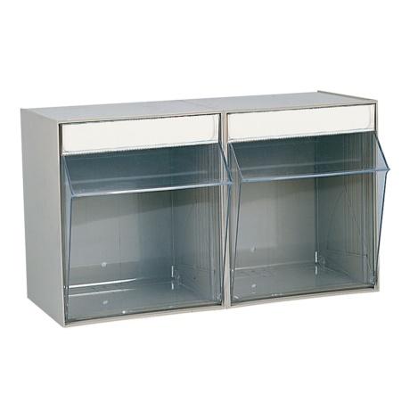 Caja de pl stico basculante con 2 compartimentos cajas - Caja almacenaje plastico ...