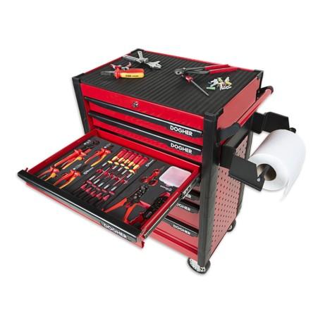 Carro herramientas metálico perforado 7 cajones