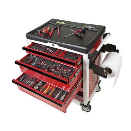 Carro herramientas metálico taller 5 cajones