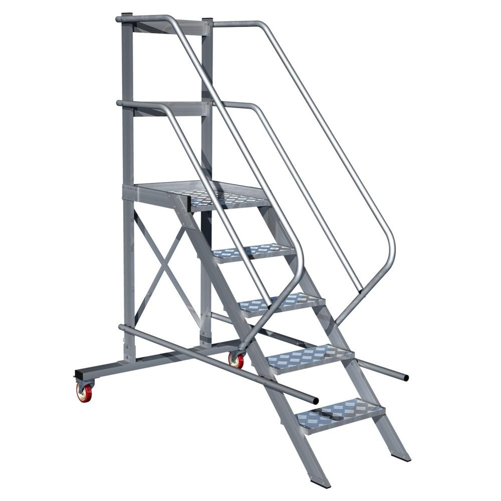 escalera de aluminio con plataforma 60 5x1 escaleras On escaleras con plataforma precios