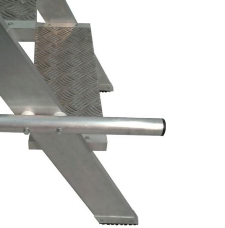 Escalera aluminio con plataforma 60º 8x1