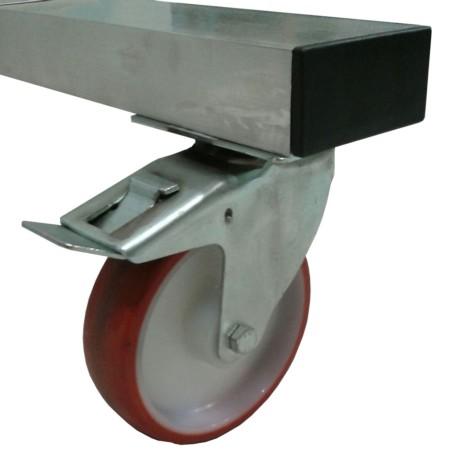 Escalera aluminio con plataforma 60º 7x1