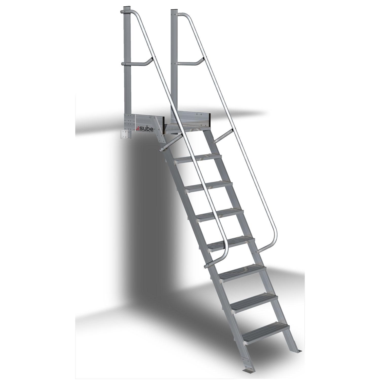 Escaleras plegables de altillo en chapa de acero y madera caja - Escalera plegable para altillo ...