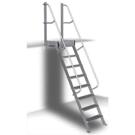Escalera de aluminio para altillo con plataforma 60 4x1 for Escaleras plegables de aluminio para altillos