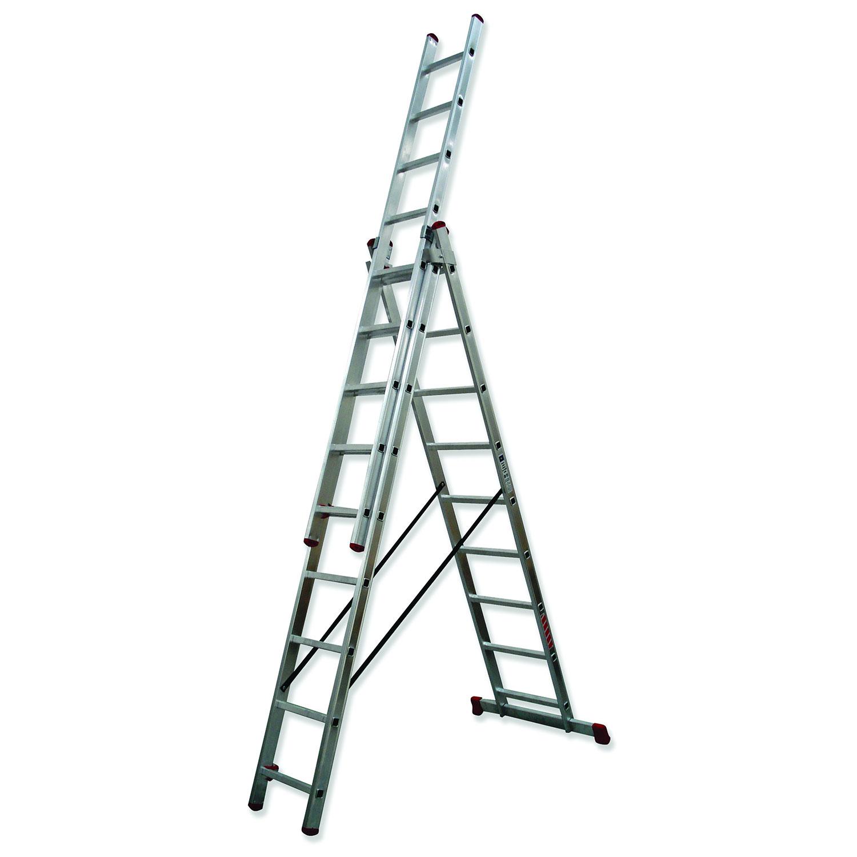 Escaleras de aluminio escaleras almateca for Escaleras tres tramos