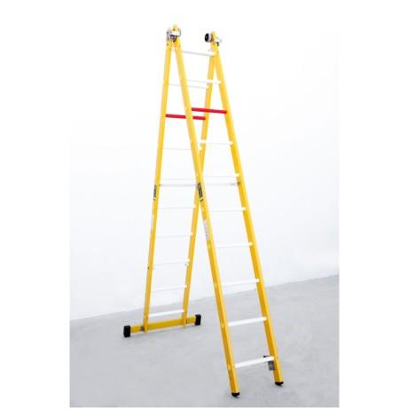 Escalera de fibra combinada 8x2 escaleras almateca for Escaleras fibra