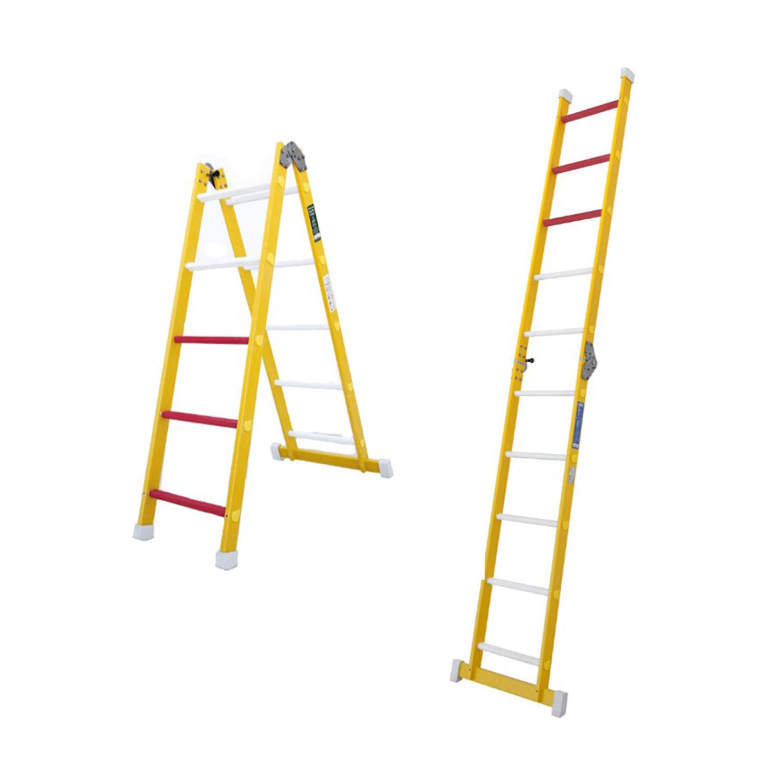 Escalera fibra un tramo plegable for Escalera un tramo