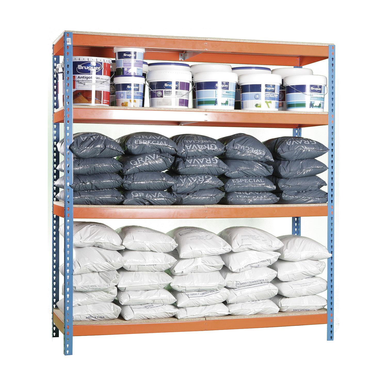 Estanterias metalicas modulares de madera almateca - Medidas estanterias metalicas ...
