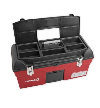 Lote caja herramientas plástico (cierre metal)