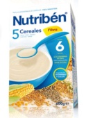 Nutriben 5 Cereales Fibra 600 g - Botica Digital