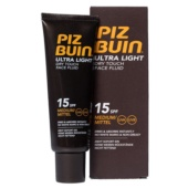 Piz Buin Protección 15 Ultra Light Dry Touch Fluido de Cara 50 ml - Botica Digital
