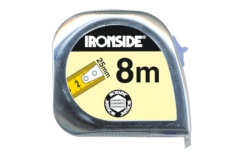 Flexómetro abs/crom. c/fre. Ironside 8m x 25mm