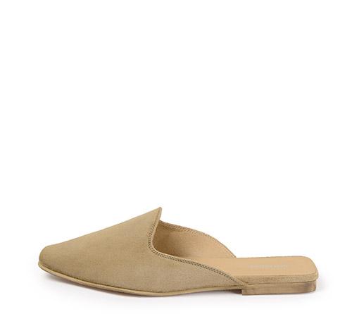 Ref. 3309 Zapato tipo babucha serraje beige.