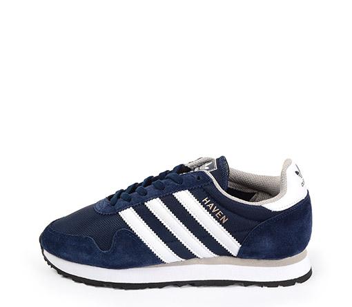 Ref. 3335 Adidas Haven serraje y tela azul. Detalles piel blanco y cordones blancos de repuesto.