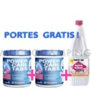 PACK POWERCARE 2 PASTILLAS + LIQUIDO ROSA