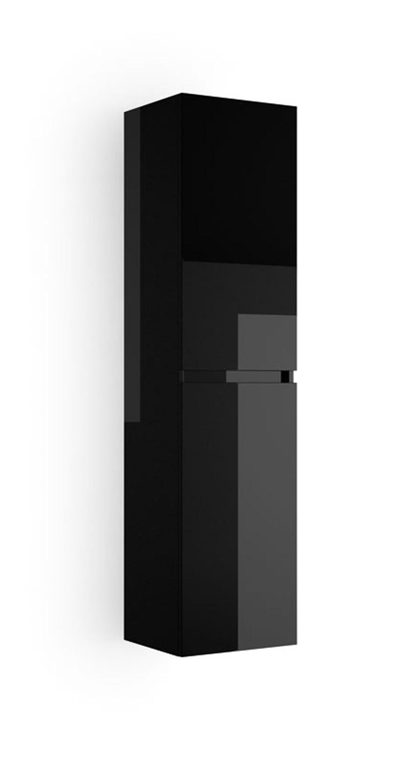 colonne salle de bain noir laque | remc homes
