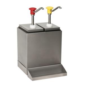 Kit 2 dosificadores refrigerados inox