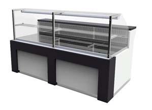 Vitrina refrigeración ventilada 200cm