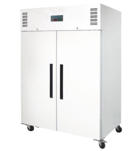Congelador Vertical color blanco doble Puerta Maciza 1200 l.