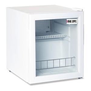 Nevera frigorífica sobremostrador blanca puerta cristal 46 litros