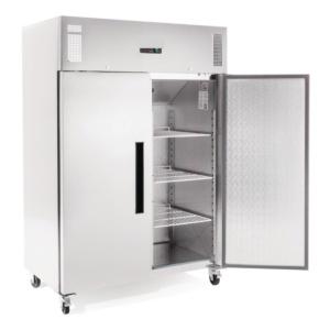 Congelador Vertical doble Inox Puerta Maciza 1200 l.