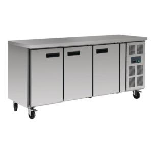 Mostrador refrigerado 3 puertas Inox