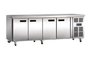 Mostrador refrigerado 4 puertas Inox
