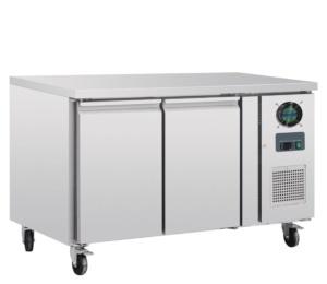 Congelador mostrador dos puertas inox