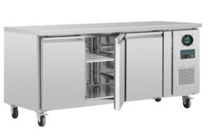 Congelador mostrador tres puertas inox