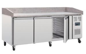 Mostrador frigorífico Inox con superficie de granito