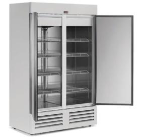 Congelador Vertical 2 Puertas Inox 912 l.