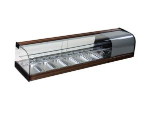 Vitrina frigorífica horizontal 6 cubetas estante intermedio