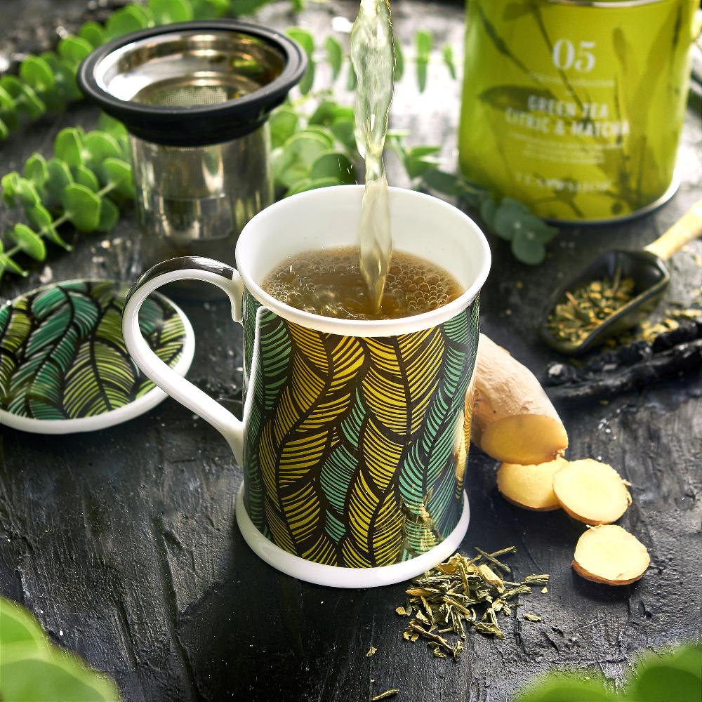 Mug Benazir Mali Green. Tazas de porcelana Tea Shop® - Ítem3