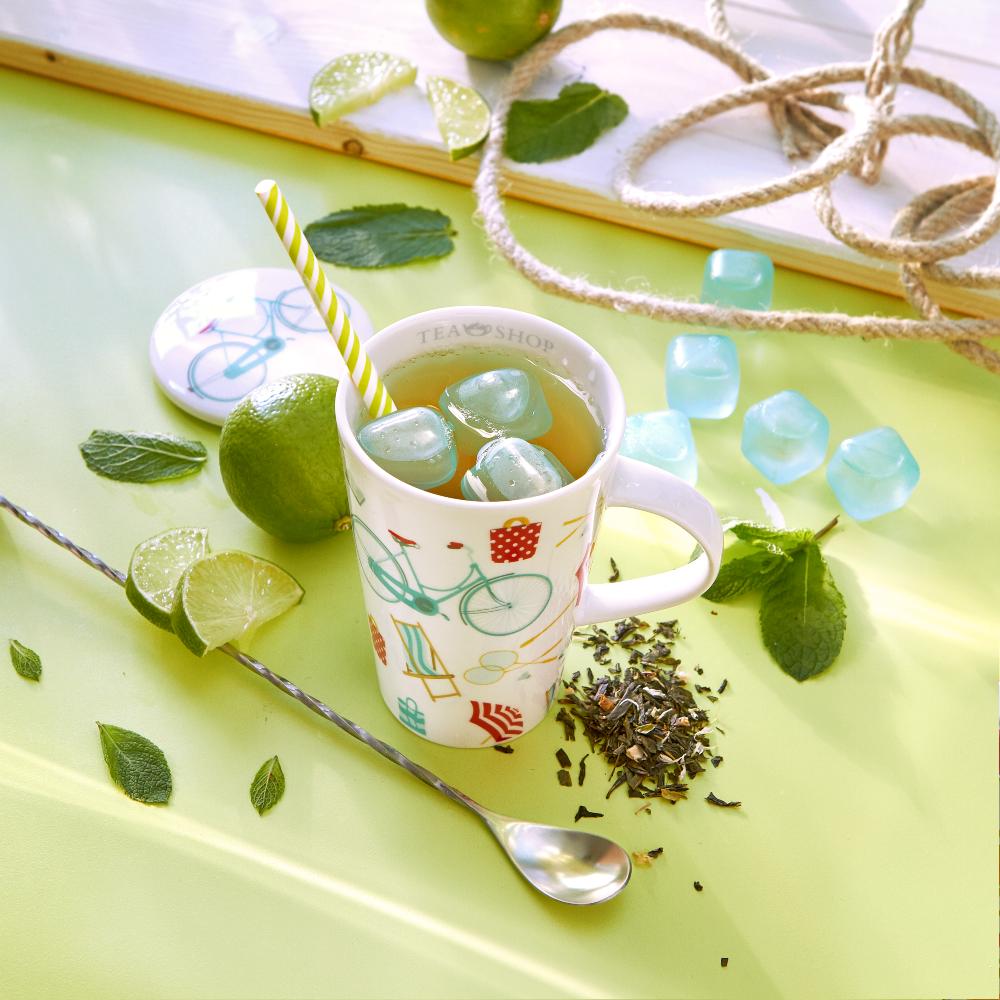 MojitoTea_ Green tea. Loose teas. Teas, rooibos teas and herbal teas, Antioxidant, Diabetics, People with Coeliac Disease, People Intolerant to Nuts, People Intolerant to Lactose, People Intolerant to Soya and Soya Products, Vegetarians, Children, Pregnant Women, Fruity, Citrus,Tea Shop® - Item1