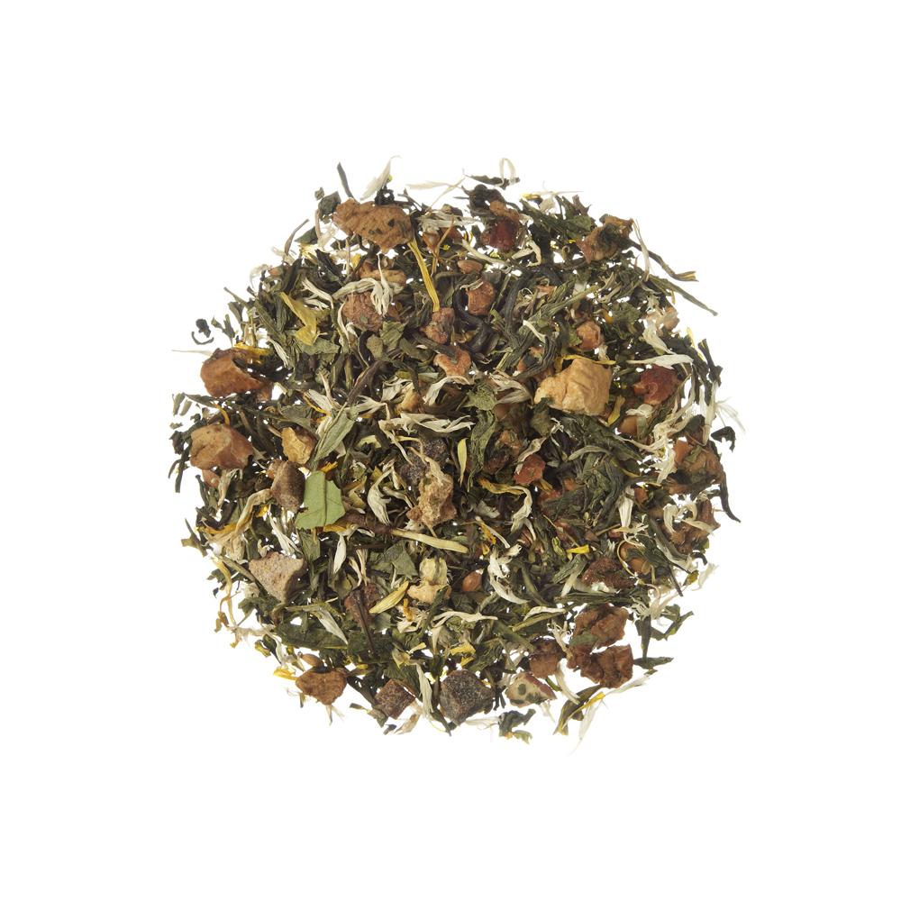 Sunny Peach. White tea. Loose teas. Teas, rooibos teas and herbal teas, Beautifying, Diabetics, People with Coeliac Disease, People Intolerant to Nuts, People Intolerant to Lactose, People Intolerant to Soya and Soya Products, Vegetarians, Children, Pregn