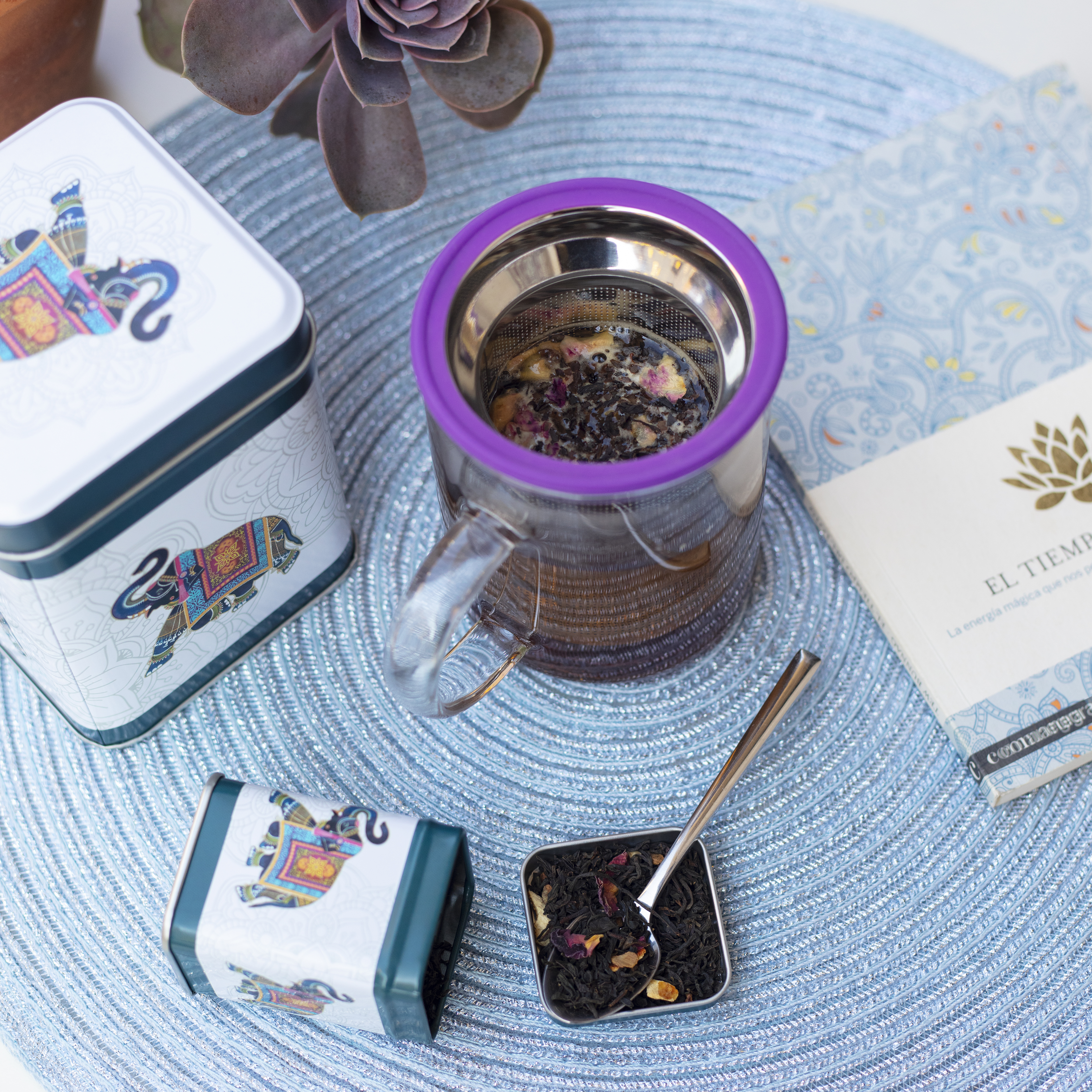 All in One Mug Purple. Glass Mugs Tea Shop® - Item2