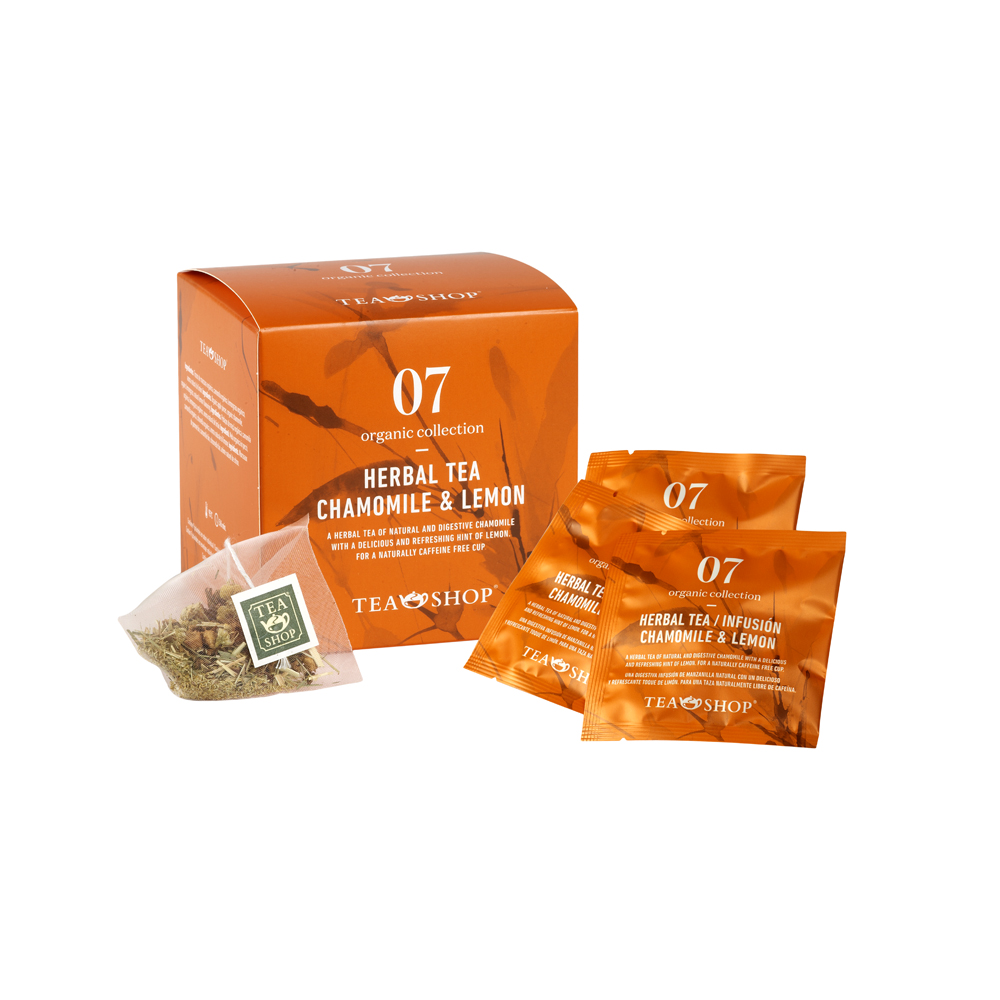 Infusión Chamomile & lemon.. Tea Collections. Organic collectionTea Shop®