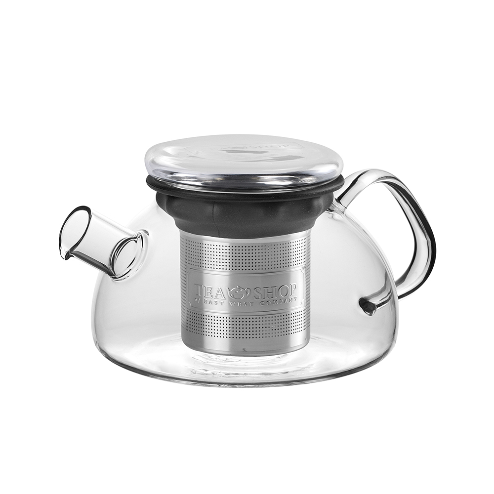 All in One Teapot Black 0.8l. Teiere in cristallo Tea Shop® - Item