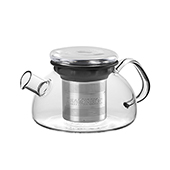 All in One Teapot Black 0.8l. Glass teapots Tea Shop®