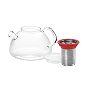 All in One Teapot Red 1.1l. Teteres de vidre Tea Shop® - Ítem1