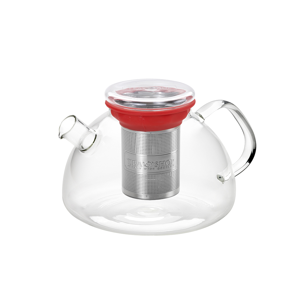 All in One Teapot Red 1.1l. Teteres de vidre Tea Shop®