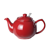 Teapot Bright Red. Tea Shop
