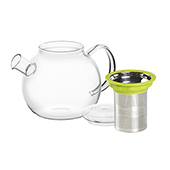 All in One Teapot Green 1l. Teteras de cristal Tea Shop®