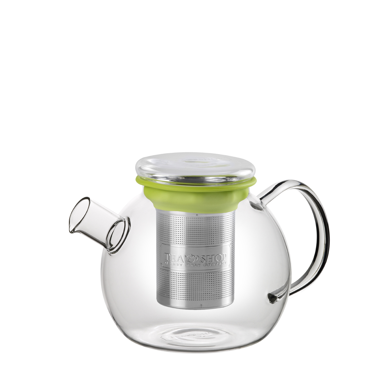 All in One Teapot Green 1l. Glass teapots Tea Shop®