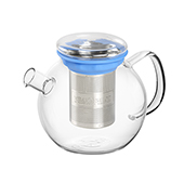 All in One Teapot Blue 0.8l. Glass teapots Tea Shop®