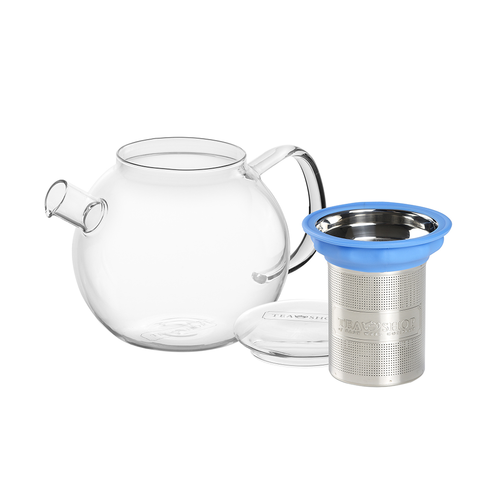 All in One Teapot Blue 0.8l. Teteras de cristal Tea Shop® - Ítem1